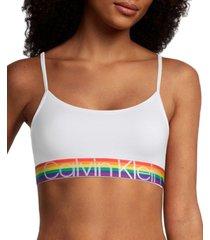 calvin klein women's rainbow unlined bralette