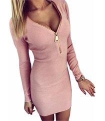 new womens autumn winter long sleeve slim sweater jumper knit bodycon mini dress