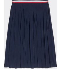 tommy hilfiger women's adaptive pleated skirt masters navy - xl