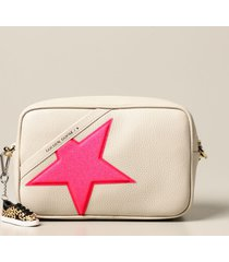 golden goose crossbody bags star golden goose bag in textured leather and glitter star