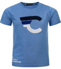 common heroes slub jersey t-shirt blue voor jongens in de kleur