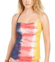 soluna moonlight tie-dyed halter tankini top women's swimsuit