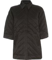 ganni heavy satin padded jacket