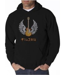 la pop art men's word art hoodie - lyrics to freebird