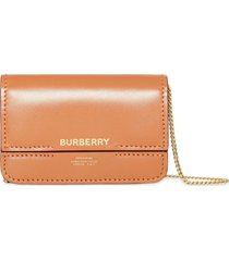 burberry horseferry print foldover card case with detachable strap -