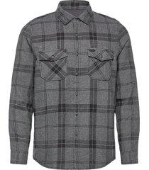 lm check flannel shirt skjorta casual grå o'neill