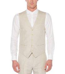 men's big and tall linen cotton herringbone suit vest