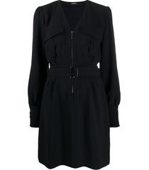 pinko belted cargo dress - black