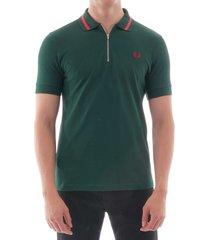 vinyl tipped polo shirt - ivy m6508