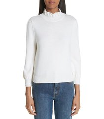 women's co essentials high collar wool sweater