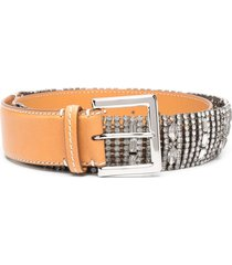 ermanno scervino woman belt with jewel application