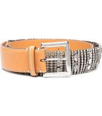 woman belt with jewel application