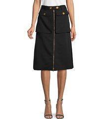 classic wool & silk skirt