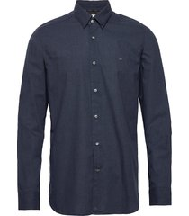 light heather poplin shirt overhemd casual blauw calvin klein