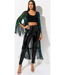 akira dream of u sequin fringe cardigan