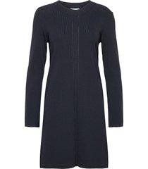 emeline knit dress knälång klänning blå morris lady