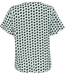 blouse korte kapmouwen van emilia lay wit