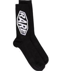 givenchy mid-calf rare socks - black