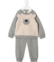 il gufo teddy bear tracksuit set - grey