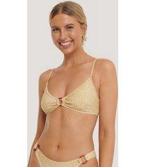 na-kd swimwear bikinitopp med ringdetalj - beige