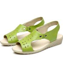 socofy sandali in pelle slip-on a peep toe con suola morbida