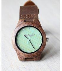 damski drewniany zegarek walnut zircon