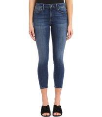 mavi jeans mavi tess crop skinny jeans, size 25 x 29 in indigo super soft at nordstrom