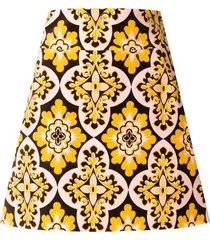 la doublej vintage print mini skirt - multicolour