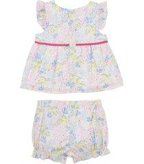 camicetta + copri pannolino floreale