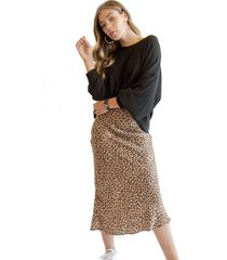 falda leopard camel racaventura