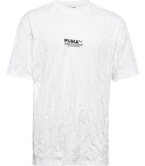 avenir crinkle tee t-shirts short-sleeved vit puma