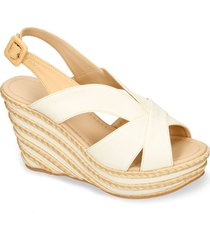 sandalias de plataforma beige bata hasum mujer