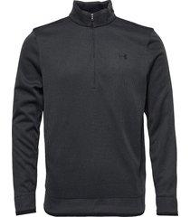 sweaterfleece 1/2 zip knitwear half zip jumpers svart under armour
