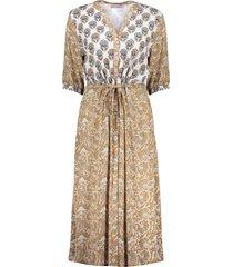 geisha 17135-20 dress combi print & strap at waist