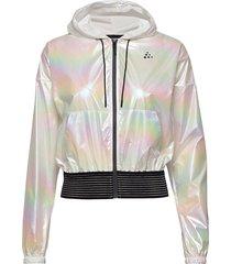 unmtd shiny hood jkt w outerwear sport jackets multi/patroon craft