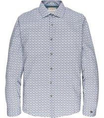 long sleeve shirt cf print chambray blue