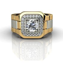 mens 14k yellow gold diamond anniversary wedding love gents groom ring