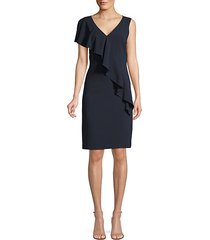 kailey ruffle-front crepe dress