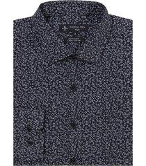 camisa dudalina manga longa tricoline estampado floral masculina (estampado, 7)