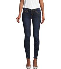 true religion women's halle mid-rise super-skinny leg jeans - minimal blue - size 24 (0)