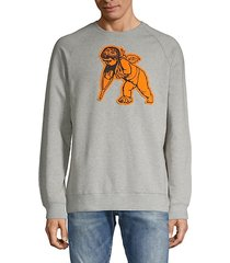 patch cotton-blend sweatshirt