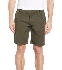 rodd & gunn the peaks regular fit shorts, size 30 in olive at nordstrom