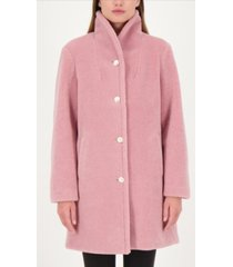 kate spade new york pearl-button teddy faux-fur coat
