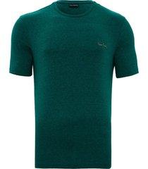 camiseta verde mesclada - kanui