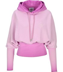 opening ceremony rose crest cropped hoodie