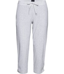 pants 3/4 pyjamasbyxor mjukisbyxor grå schiesser