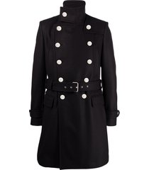 balmain double-breasted belted coat - 6ub marine