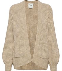 anf womens sweaters stickad tröja cardigan beige abercrombie & fitch