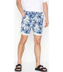 selected homme slhstraight-paris aop shorts w shorts mörk blå