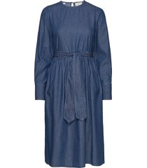 slfalina ls dress w jurk knielengte blauw selected femme